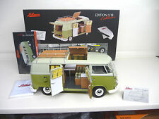 Schuco Exclusive 1:18 VW T1 Camper Bus 1963 Camping Westfalia NEW FREE SHIPPING