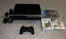 Sony Playstation 3 PS3 80GB Fat Console Bundle w/ Games System Lot
