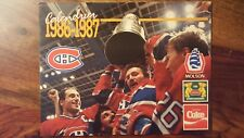 NHL Montreal Canadiens 1986 stanley cup champions calendar