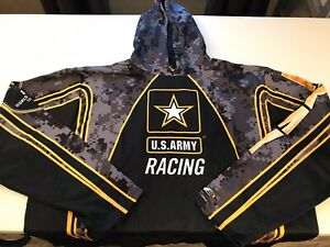 "NHRA US ARMY RACING"" 8X TOP FUEL CHAMP' UNIFORM STYLE HOODIE SIZE 3X"