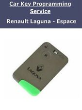 Renault Laguna & Espace 2 button new remote key card programming service London