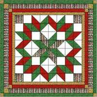 Easy Quilt Kit Carpenters Wheel Christmas! Precut Ready to Sew