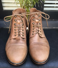 Aquila Tan Leather Lace Up Boots Unisex  42