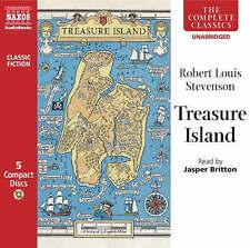 "Robert Louis Stevenson""TREASURE ISLAND""Reader Jasper Britton-Unabridged 5xCD-NEW"