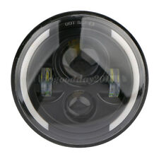 "7"" inch Round LED Headlight Hi/Low Beam  DOT For Jeep Wrangler JK LJ TJ Harley"