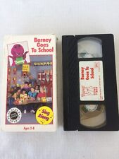 *Tested* Rare Barney And The Backyard Gang VHS Tape: Barney Goes To School 1990