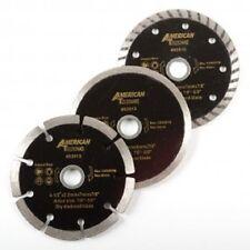 """3-pc 4 1/2"""" Diamond Blades DRY/WET/TURBO Saw Blade Wheels Tile Concrete"""