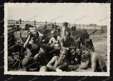 Vintage photo-pak-Chars Chasseur-Nude-Boys-qaurtier - France