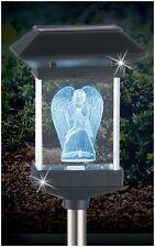"14"" SOLAR LED MEMORIAL 3D CRYSTAL LIGHT - GUARDIAN ANGEL"