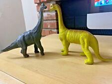 Vintage Imperial Brontonausaurus Dinosaur And Papo Brachiosaurus Figures