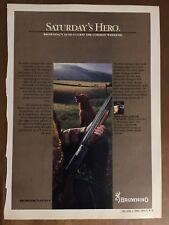 "1983 Browning Automatic 5 Shotgun Ad Vintage Hunting Advertising ""Saturdays Hero"