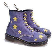 Dr. Martens Doc England Rare Vintage 1460 Blue Yellow Stars Boots UK 7 US 9