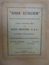 VOCAL SCORE David Griffiths baban Betlemme, gallese testo