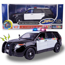 Motormax 2015 Ford Explorer Police Interceptor 1:24 Diecast LIGHTS & SOUND 79536