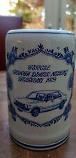 Vtg Delft Blue White Tercel Mug Tankard Stein Toyota Dealer Meeting Febr. 1979