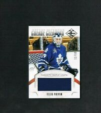 2012-13 LEAF LIMITED FELIX POTVIN CREASE CLEANERS JERSEY SERIAL #ED 12/99 CARD