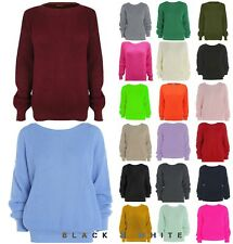 Ladies Oversized Baggy Knitted Fishnet Jumper Womens Long Sleeve Sweater Top