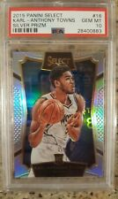 2015-16 Karl Anthony Towns Panini Select Silver Prizm Rookie RC #16 PSA 10