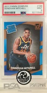 2017 NBA Panini Donruss #188 Donovan Mitchell RC Rookie Card PSA 9 MINT
