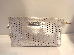 CRABTREE & EVELYN  SILVER COSMETIC BAG NEW WITH TAGS