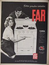 PUBLICITÉ 1959 CUISINIÈRE FAR FLORÉAL TOUS GAZ - ADVERTISING