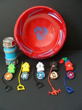 beyblade metal fusion super vortex battle set beystadium assembly chamber 3 tops