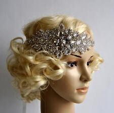 Crystal Rhinestone Headband Bridal Headpiece Wedding Hair Jewelry Silver NEW