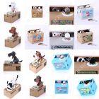 Cute Gift Stealing Coin Money Box Cat Panda Dog Piggy Bank Storage Saving Box