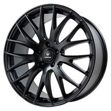 4-NEW Verde V27 Saga 17X7.5 5x108 +40mm Satin Black Wheels Rims