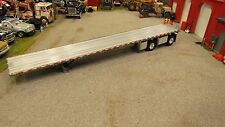 SILVER DCP SPREAD AXLE FLAT BED HIGH BOY TRAILER W/ ROPE TOOL BOX'S 1:64