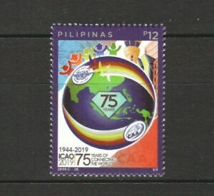 PHILIPPINES 2019 75 YEARS ICAO AVIATION COMP. SET OF 1 STAMP IN MINT MNH UNUSED
