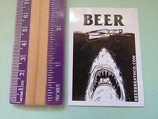 Beer STICKER ~*~ BEER BREATH Co ~*~ Blog & Brand Designers ~ Shark & Bottle Fun
