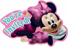 Minnie Mouse Invitations X 8 Birthday Invites Party Supplies