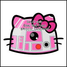 Fridge Fun Refrigerator Magnet STAR WARS: HELLO KITTY R2-D2 Version B Die-Cut