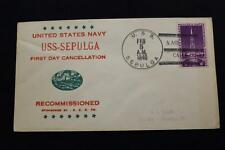 NAVAL COVER 1940 SHIP CANCEL 1ST DAY POSTAL SERVICE USS SEPULGA (AO-20) (1717)