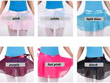 Chiffon Dance Ballet Wrap Skirt with Matching Ribbon Waist Tie