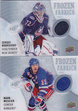 14-15 UD Ice Sergei Bobrovsky Jersey Frozen Fabrics Blue Jackets 2014