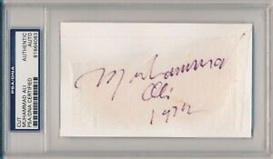 Muhammad Ali Vintage Signed Cut from 1972 PSA/DNA Autograph #81664063 Very Rare