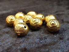 MB65 20 x Tibetan Style Oval Spacer Beads Antique Bronze 13mm NF Metal Beads