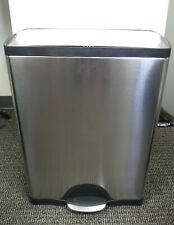SimpleHuman Stainless Steel Step Trash Can Rectangular 13 Gallon / 50L