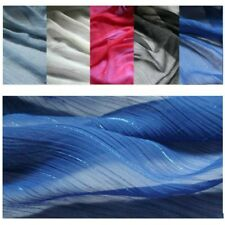 Striped Crepe Voile Sheer Fabric Glitter Line Crinkle Pleat DIY Material Curtain