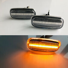 2x Dynamic Clear LED Side Marker Turn Signal Light For Audi A8 TT A3 S3 8L