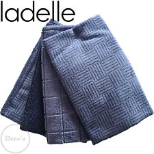 Ladelle Blue 4 Pack Super Absorbent Quick Drying Microfibre Tea Towels