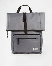 D-STRUCT GREY FOLD OVER BACKPACK BAG RUCKSACK MAN BAG SCHOOL COLLEGE WORK TRAVEL