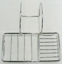 VINTAGE CHROME BATH TUB SOAP DISH