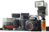 【 N MINT 】 Pentax 67II 67 II AE Finder + SMC P 105mm 135mm 200mm Lens from JAPAN