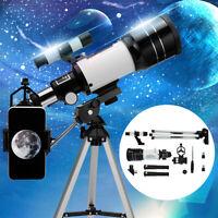 300X70mm Refractive Astronomical Telescope Tripod Monocula Space Scope Refractor