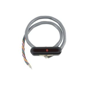 LOKAR LED gear shift indicator BLACK HORIZONTAL dash mount bezel, th350/400/C4