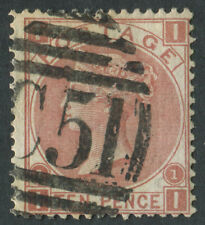 GB Used in Danish West Indies Z27 10d Red-Brown, bold C51 of St Thomas