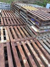 "steel flat pallet, 40"" x 48"", 4 way entry"